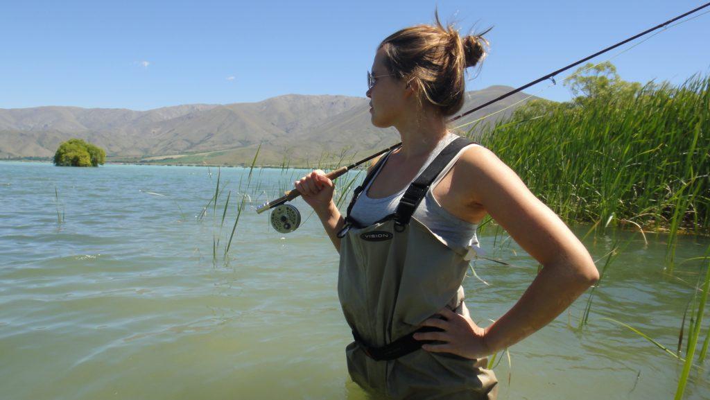 Me fishing at Lake Benmore, NZ