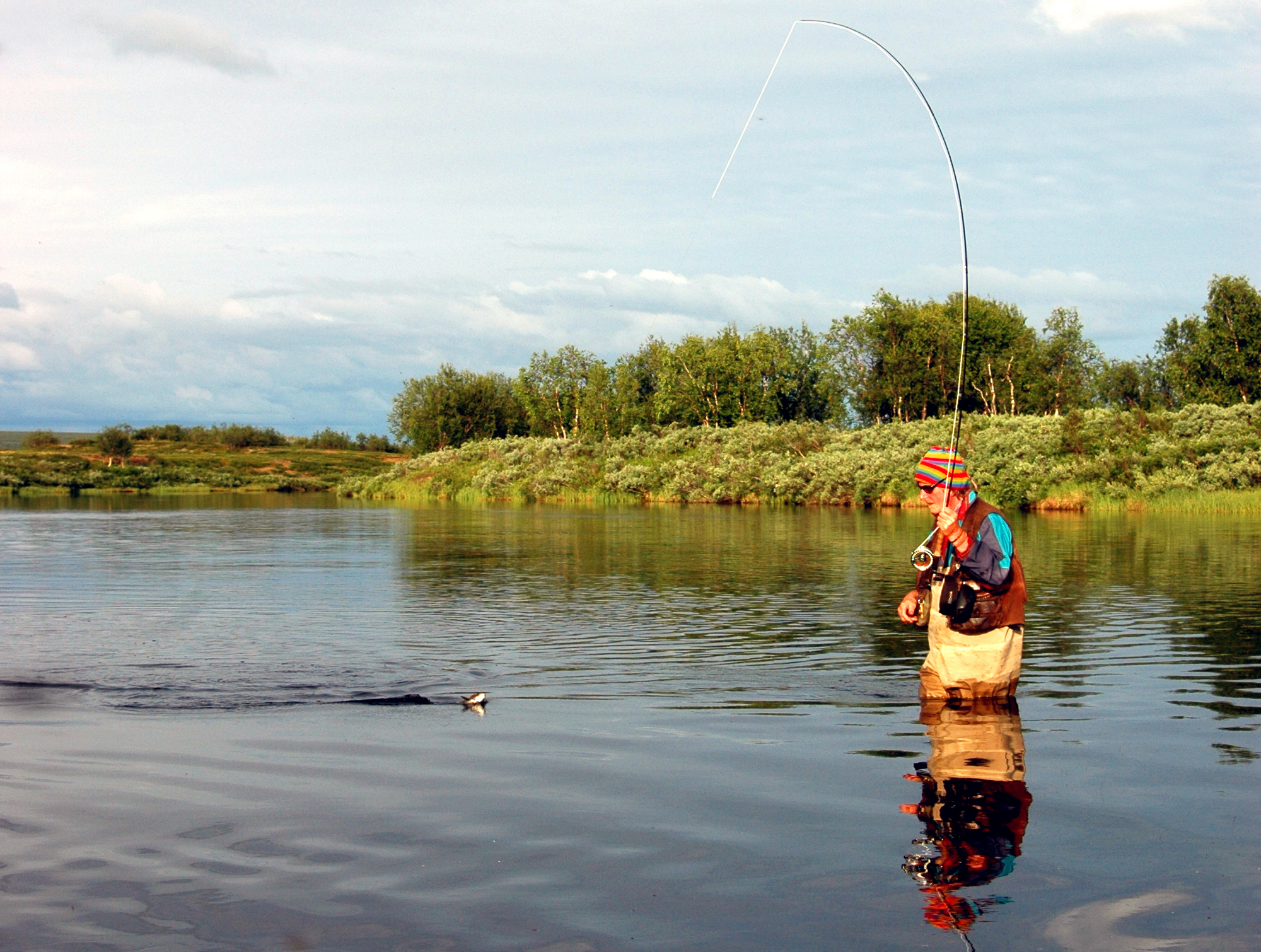 Seeing a fly rod as a boy in the 1960 got Gunnar hooked for life