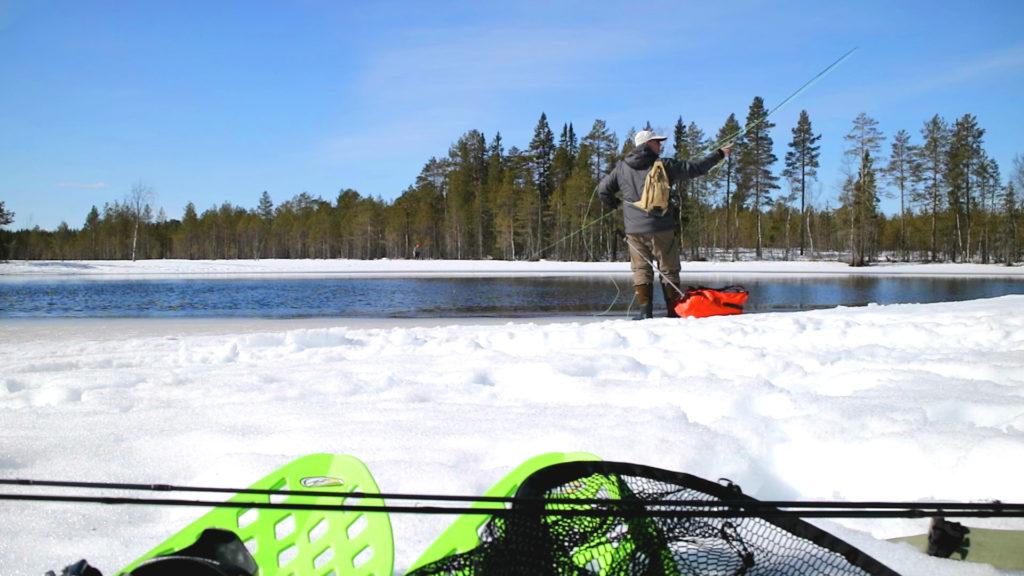 Hans van Klinken winter fishing
