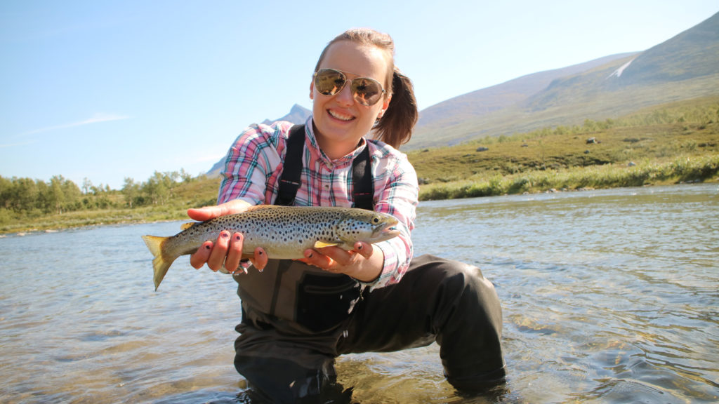 flyfishing in Sweden for brown trout